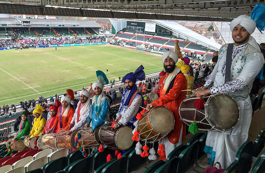 Gabhru Panjab De Dhol Players at Leicester Tigers April 2016